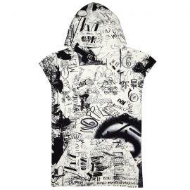 Graffiti Print Cotton Sweatshirt by MM6 by Maison Margiela at Harvey Nichols