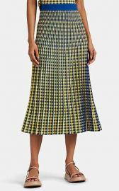Graphic-Gingham Jacquard Midi-Skirt by Derek Lam 10 Crosby at Saks Fifth Avenue