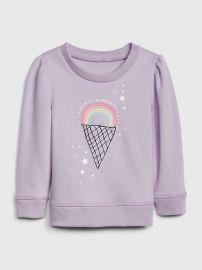 Graphic Puff-Sleeve Sweatshirt at Gap