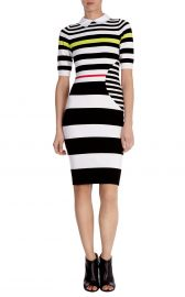 Graphic Stripe Knit Dress at Karen Millen