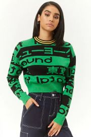 Graphic Sweater-Knit Top at Forever 21 CA