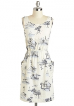 Graphic print dress at Modcloth