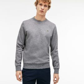 Gray Crew Neck Sweater by Lacoste at Lacoste