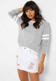 Gray Striped Sweatshirt by Forever 21 at Forever 21