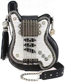 Greatest Hits Beaded Guitar Crossbody Handbag Purse by Mary Frances at Amazon