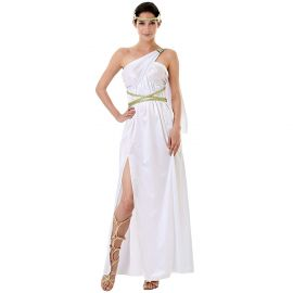 Grecian Goddess Halloween Costume for Women   Athena  Aphrodite Dress at Amazon