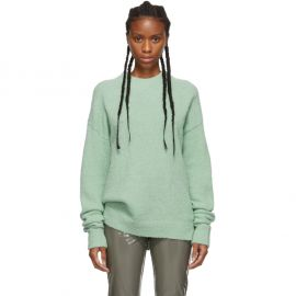 Green Alpaca Airy Sweater at Ssense