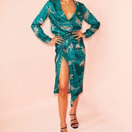 Green Cheetah Jaspre Skirt at Never Fully Dressed