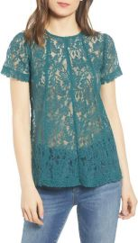 Green Lace Top by Chelsea28 at Nordstrom