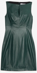 Green Leather Dress by Robert Rodriguez at Intermix
