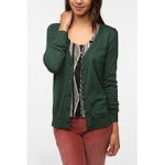 Green cardigan like Elenas at Urban Outfitters at Urban Outfitters