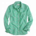 Green check shirt on New Girl at J. Crew