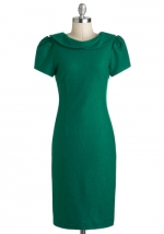 Green dress with collar from Modcloth at Modcloth