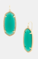 Green drop earrings by Kendra Scott at Nordstrom