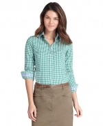 Green gingham shirt from Brooks Brothers at Brooks Brothers
