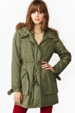 Green parka jacket from Nasty Gal at Nasty Gal
