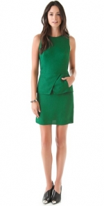 Green peplum dress by Tibi at Shopbop