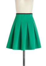 Green pleated skirt at ModCloth at Modcloth