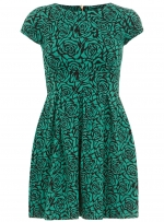 Green rose print dress at Dorothy Perkins at Dorothy Perkins