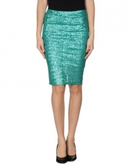 Green sequin pencil skirt at Yoox