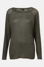 Green sweater by Topshop at Topshop