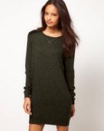 Green sweater dress from ASOS at Asos