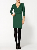 Green wrap dress like Robins at Piperlime