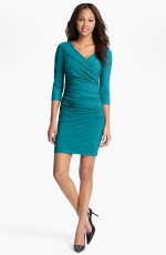 Green wrap style dress at Nordstrom