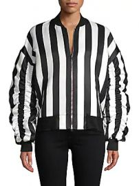 Grey Lab - Striped Bomber Jacket at Saks Off 5th