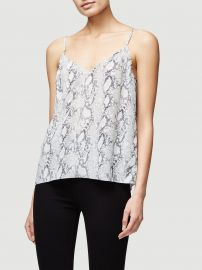 Grey Python Classic Silk Cami at Frame