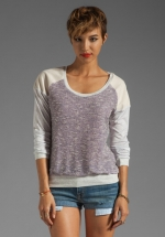 Grey baseball tee by Heather at Revolve