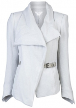 Grey belted blazer by Helmut Lang at Farfetch