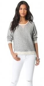 Grey cheetah sweater by Townsen at Shopbop