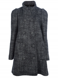 Grey double breasted coat by Stella McCartney at Farfetch