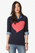 Grey heart sweater at Forever 21 at Forever 21