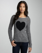 Grey heart sweater at Neiman Marcus at Neiman Marcus