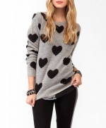 Grey heart sweater from Forever 21 at Forever 21