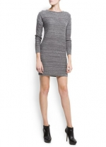 Grey knit dress from Mango at Mango