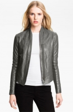 Grey leather jacket by Veda at Nordstrom