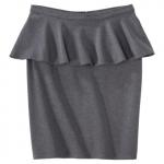Grey peplum skirt from Target at Target
