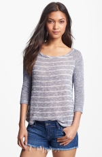 Grey striped baseball tee by Splendid at Nordstrom