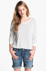 Grey striped sweatshirt at Nordstrom at Nordstrom