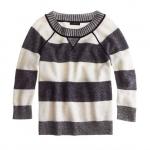 Grey striped sweatshirt from Jcrew at J. Crew