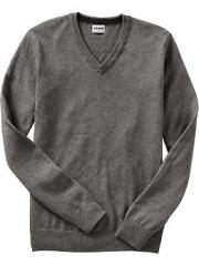 Grey v neck sweater at Old Navy