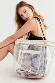 Grid Plastic Bucket Tote Bag at Urban Outfitters