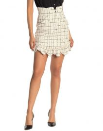 Grid Print Tweed Mini Skirt by Rebecca Taylor at Nordstrom Rack