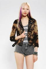 Grommet moto jacket at Urban Outfitters