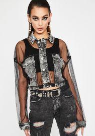 Grunge Glamour Crop Jacket by Dolls Kill at Dolls Kill