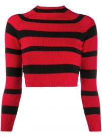 Grunge stripe sweater by Miu Miu at Farfetch