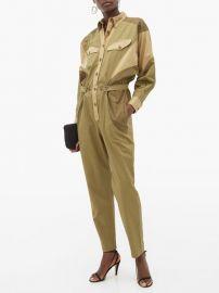 Guan patchwork cotton-gabardine jumpsuit at Matches